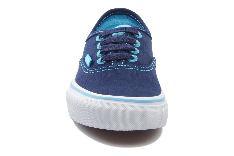 Baskets Vans Authentic BB Bleu vue portées chaussures