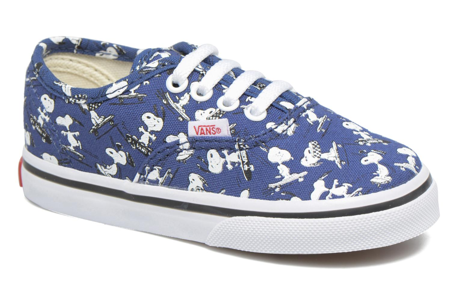Baskets Vans Authentic BB Bleu vue détail/paire