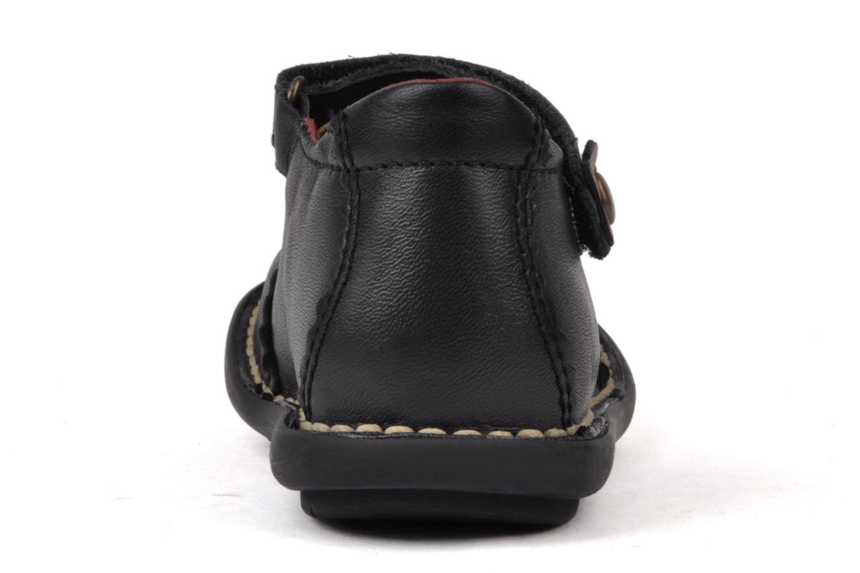 Chaussures à scratch Kickers Makup Noir vue droite