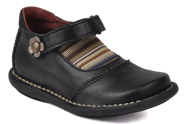 Chaussures à scratch Kickers Makup Noir vue détail/paire