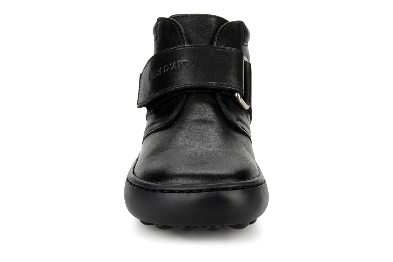 Chaussures à scratch Pom d Api Walk Desert Velcro Noir vue portées chaussures