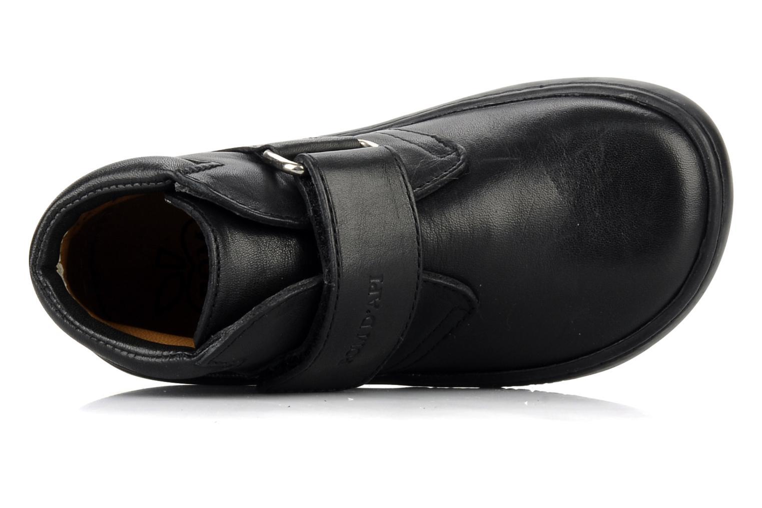 Chaussures à scratch Pom d Api Walk Desert Velcro Noir vue gauche