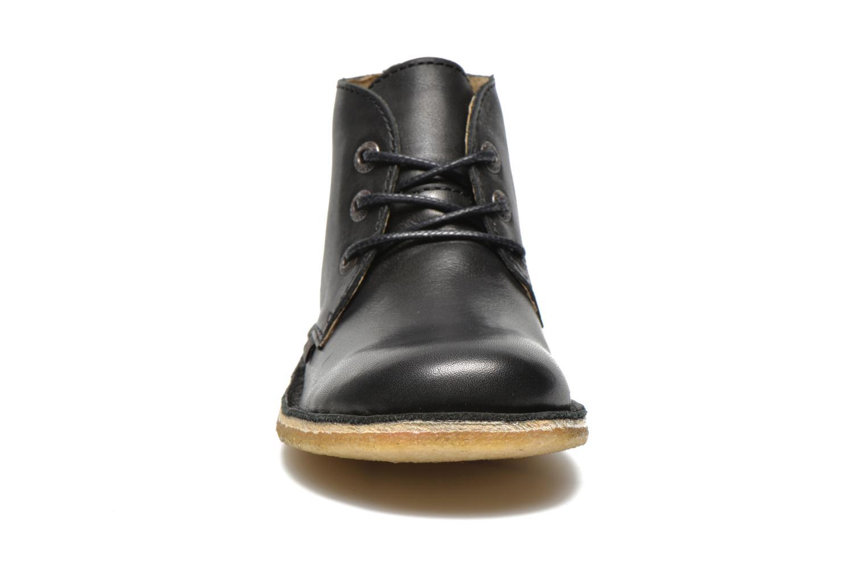 Schnürschuhe Kickers Realkiz schwarz schuhe getragen