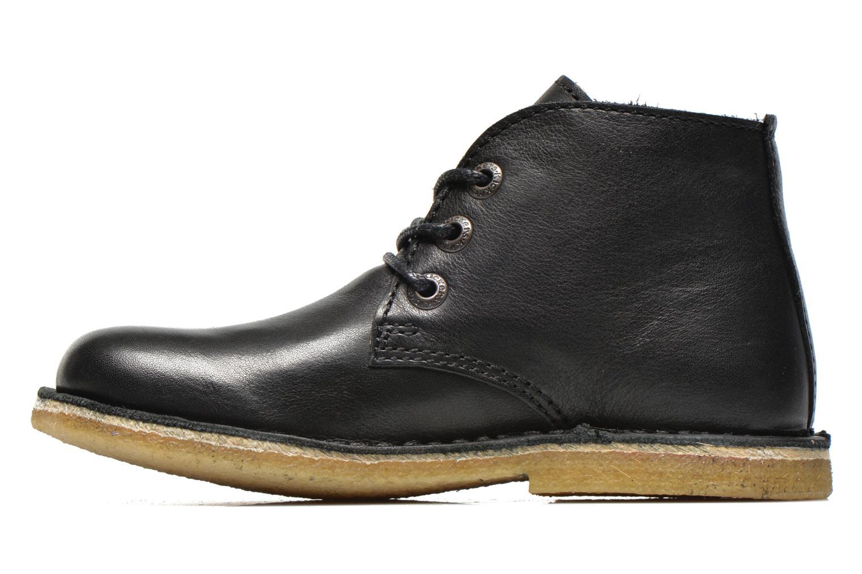 Chaussures à lacets Kickers Realkiz Noir vue face