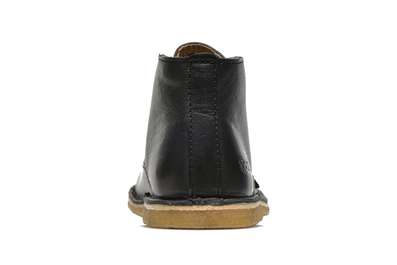 Chaussures à lacets Kickers Realkiz Noir vue droite
