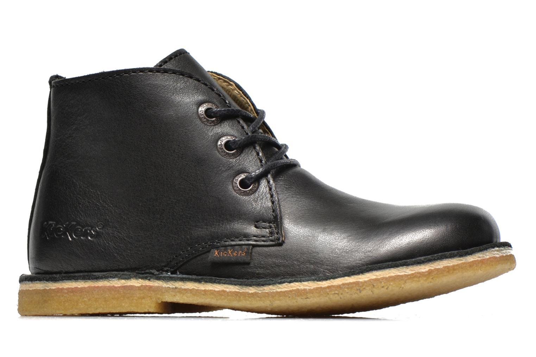 Chaussures à lacets Kickers Realkiz Noir vue derrière
