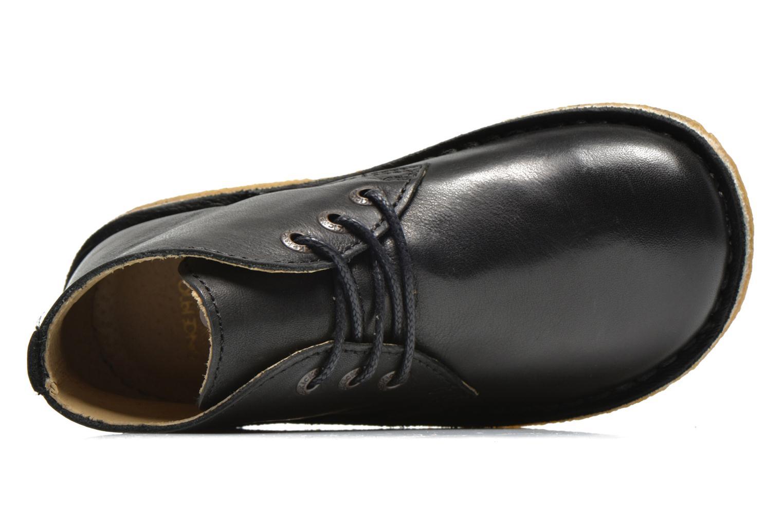 Schnürschuhe Kickers Realkiz schwarz ansicht von links