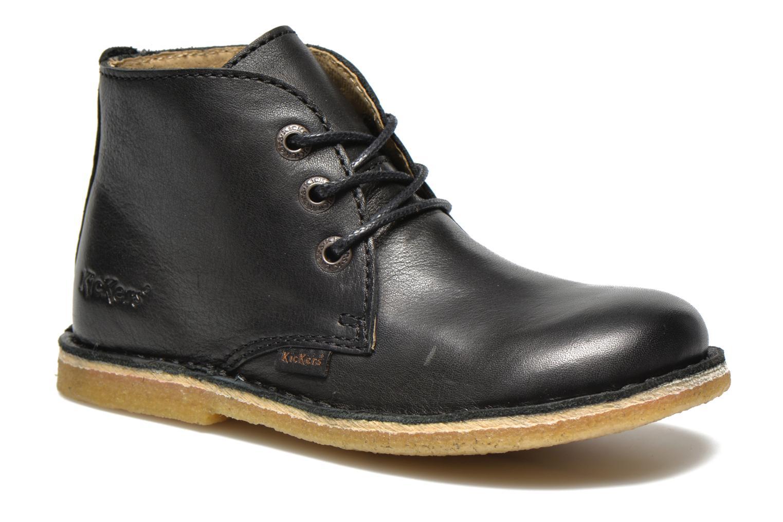 Chaussures à lacets Kickers Realkiz Noir vue détail/paire