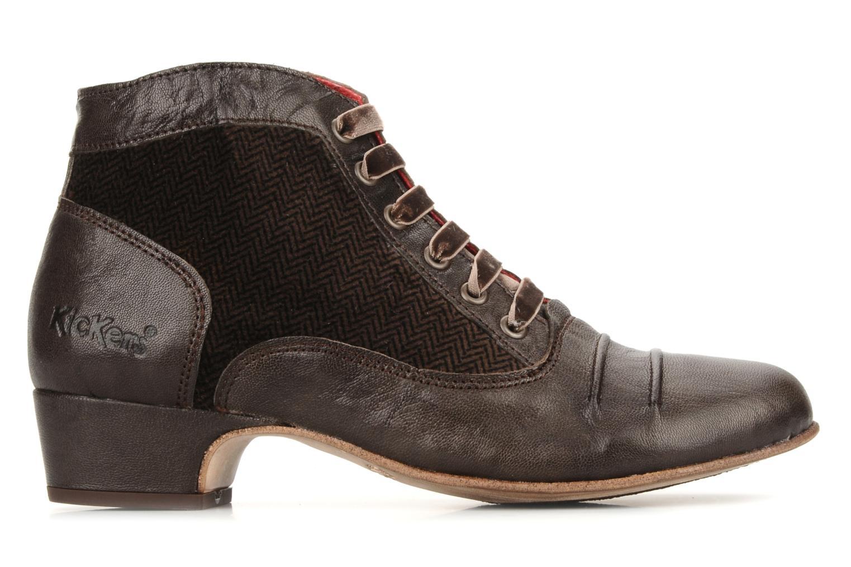 Boots en enkellaarsjes Kickers Ginger Bruin achterkant
