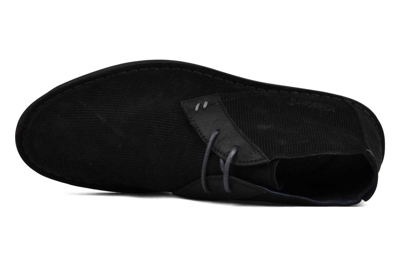 Chaussures à lacets Kickers Magnok Noir vue gauche