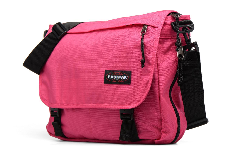 Schulzubehör Eastpak Authentic Delegate rosa schuhe getragen