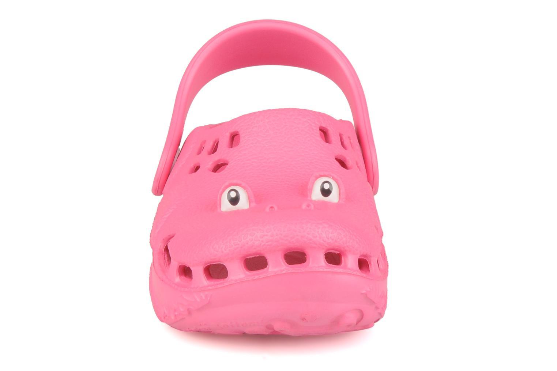 Sandales et nu-pieds Polliwalks Bilbouille La Grenouille Rose vue portées chaussures