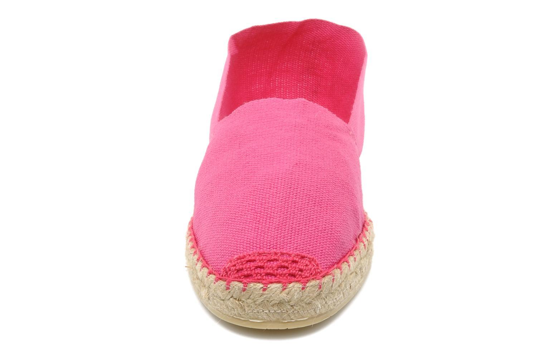 Espadrilles La maison de l'espadrille Sabline F Rose vue portées chaussures