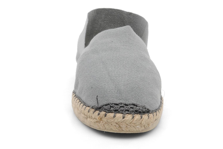 Espadrilles La maison de l'espadrille Sabline H Gris vue portées chaussures
