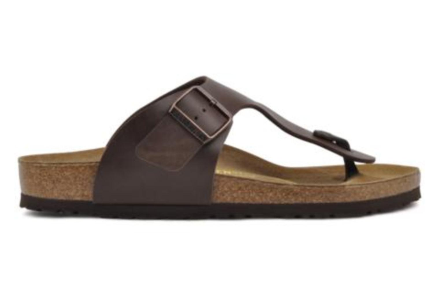 Flip flops Birkenstock Ramses M Brown back view