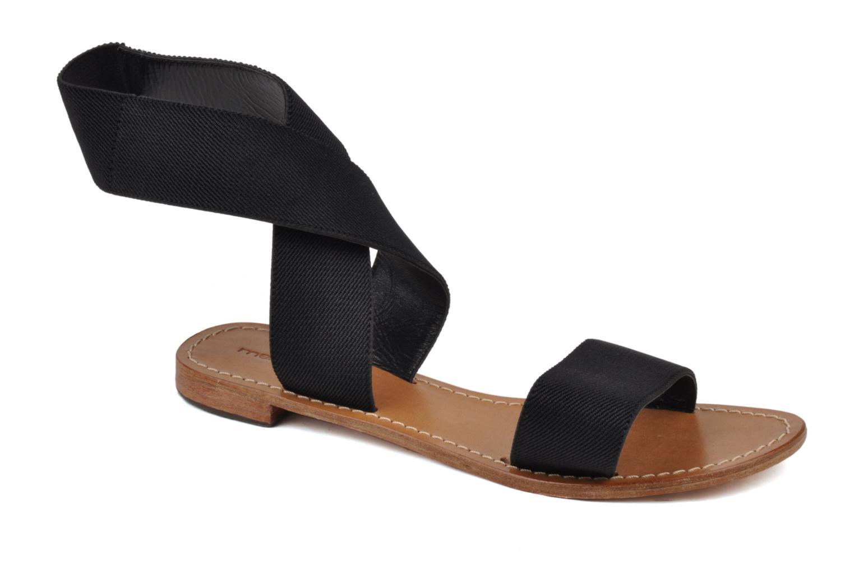 Sandales et nu-pieds Mellow Yellow Haussmann Noir vue détail/paire