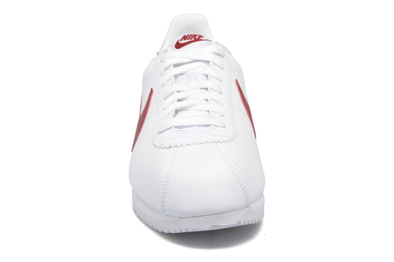 Deportivas Nike Classic Cortez Leather Blanco vista del modelo