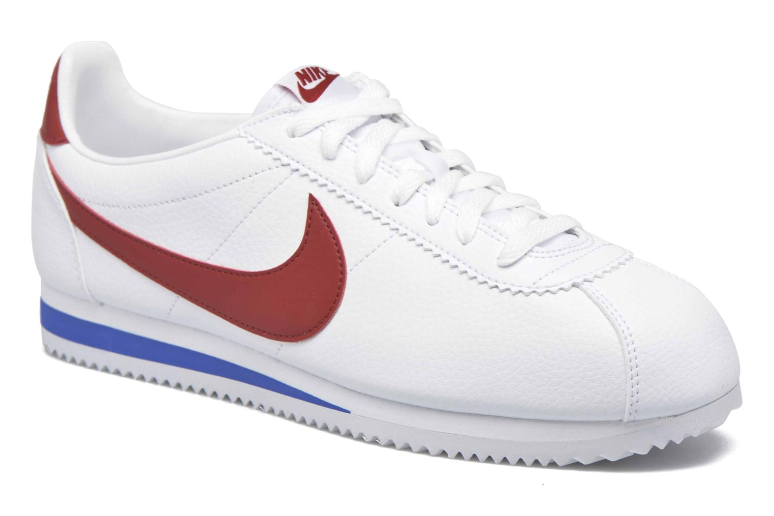 Baskets Nike Classic Cortez Leather Blanc vue détail/paire
