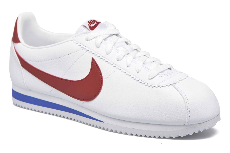 Baskets Nike Classic Cortez Leather Blanc vue détail/paire