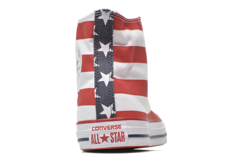 Sneaker Converse Chuck Taylor All Star Stars & Bars Hi M weiß ansicht von rechts