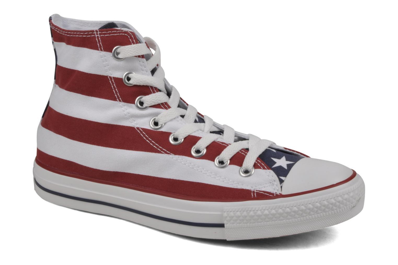 Baskets Converse Chuck Taylor All Star Stars & Bars Hi M Blanc vue détail/paire