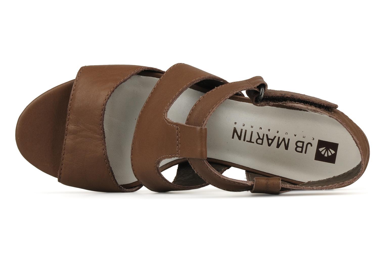 Sandales et nu-pieds JB MARTIN Hawaienne Or et bronze vue gauche
