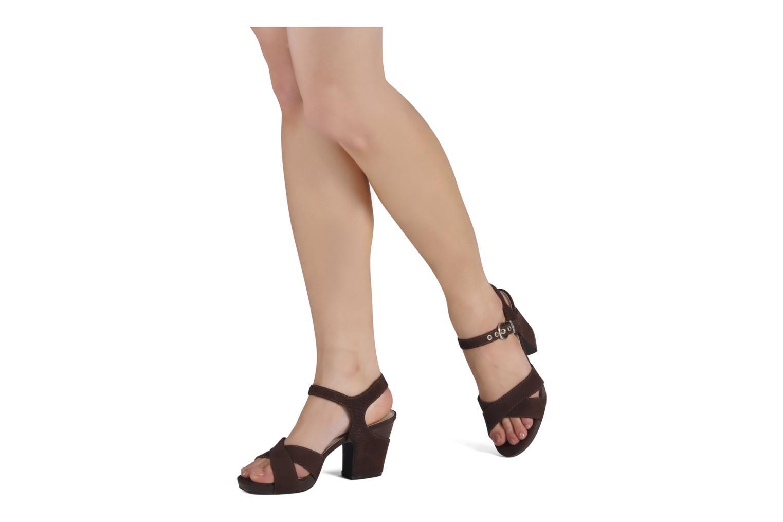 Sandales et nu-pieds JB MARTIN Hasard Marron vue bas / vue portée sac