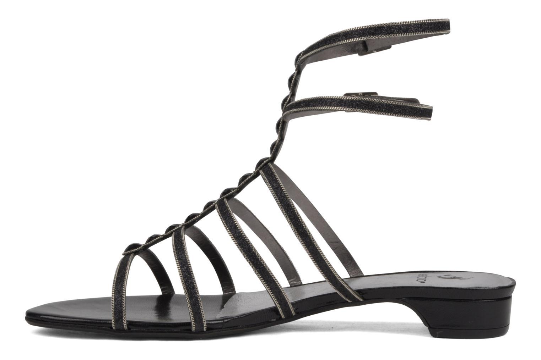 Sandales et nu-pieds Perlato Jadia Noir vue face