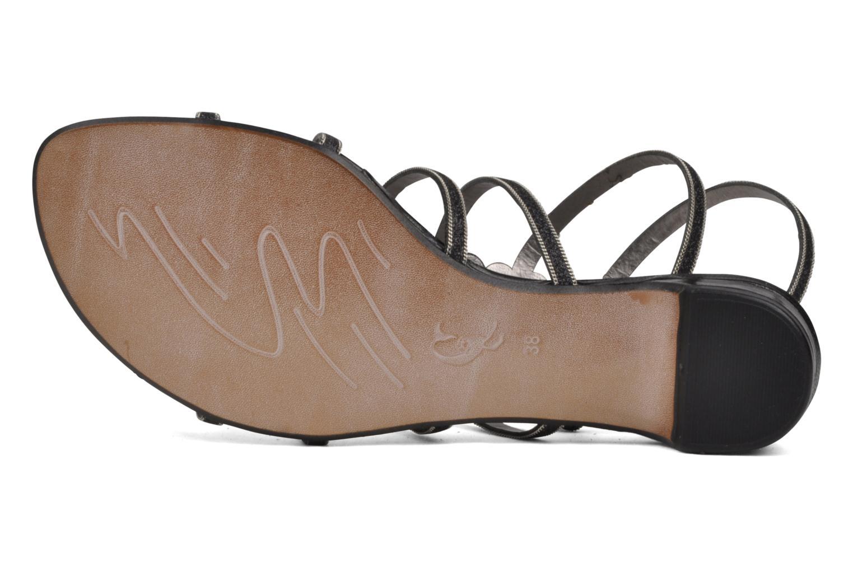 Sandales et nu-pieds Perlato Jadia Noir vue haut