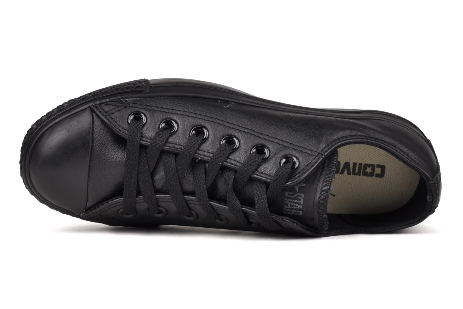 Trainers Converse Chuck Taylor All Star Monochrome Leather Ox W Black view from the left