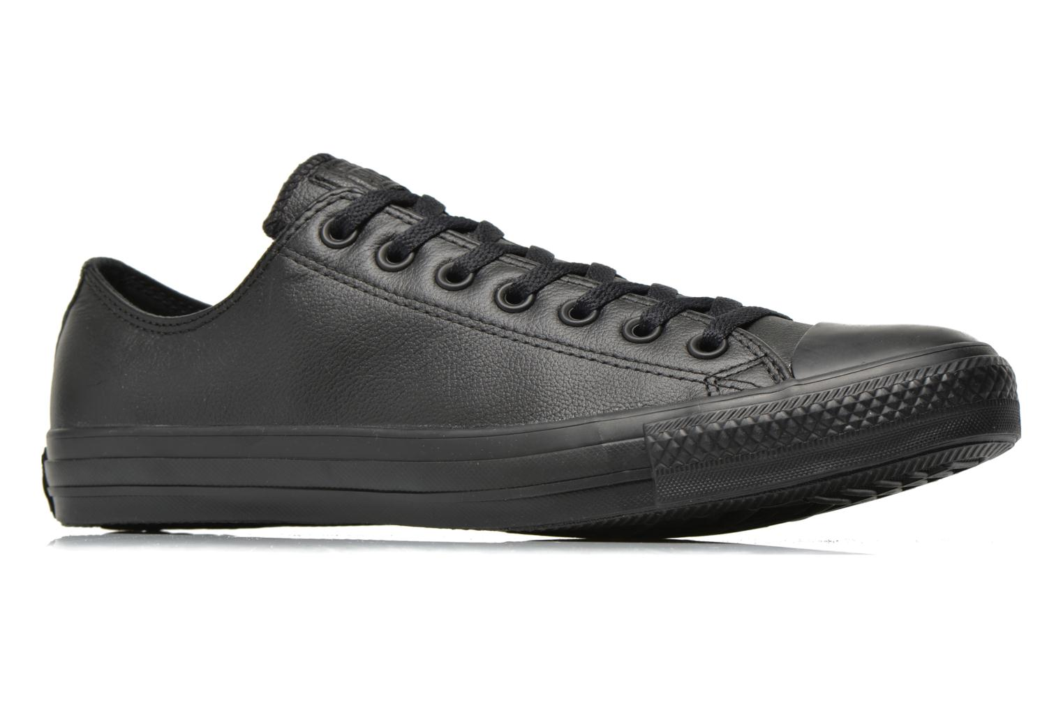 Sneakers Converse Chuck Taylor All Star Monochrome Leather Ox M Zwart achterkant