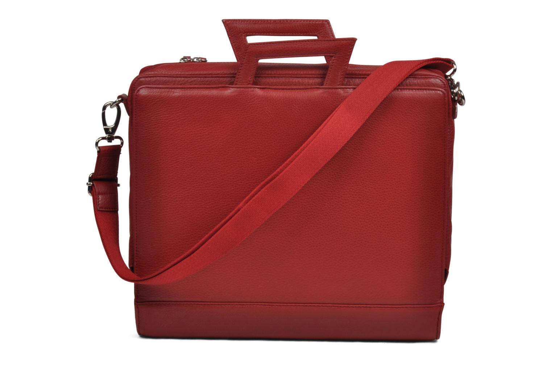 Business Lin & Gelli Elegy Laptop Rojo vistra trasera