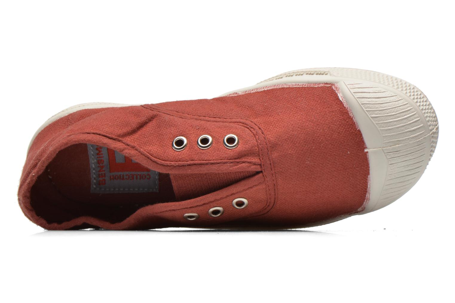 Trainers Bensimon Tennis Elly E Burgundy view from the left