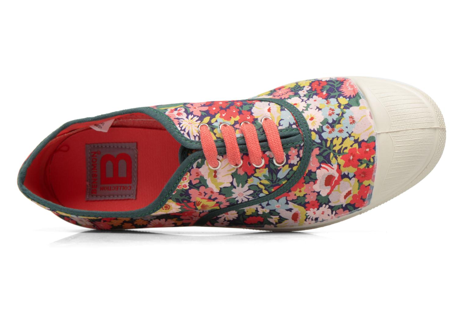 Trainers Bensimon Tennis Liberty Green view from the left