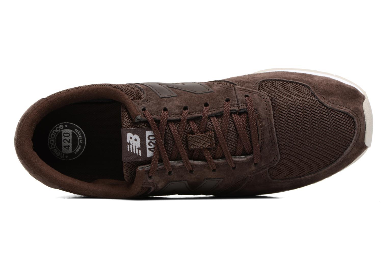 Sneaker New Balance U420 braun ansicht von links