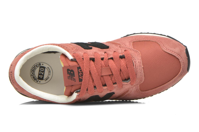 Sneaker New Balance U420 W weinrot ansicht von links