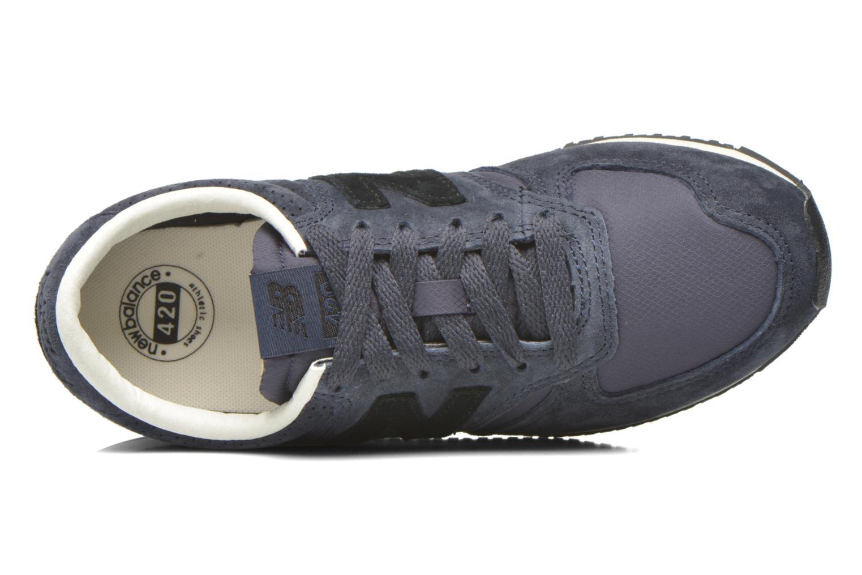 Sneaker New Balance U420 W blau ansicht von links