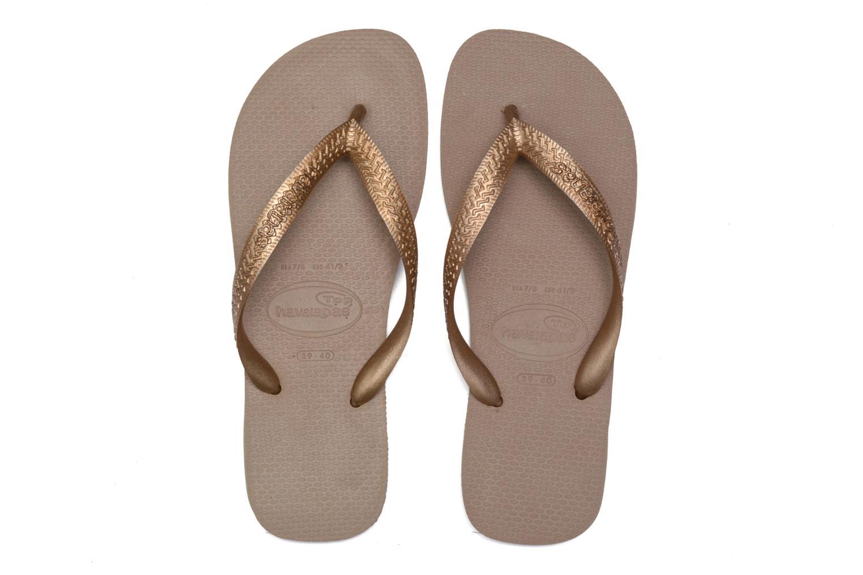 Flip flops Havaianas Top Metallic F Bronze and Gold 3/4 view
