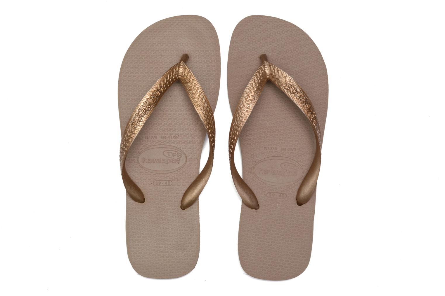 Chanclas Havaianas Top Metallic F Oro y bronce vista 3/4