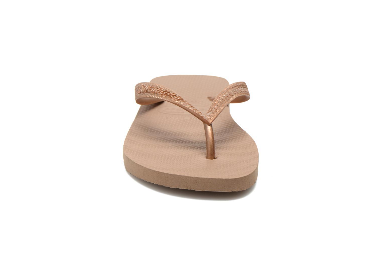 Flip flops Havaianas Top Metallic F Bronze och Guld bild av skorna på