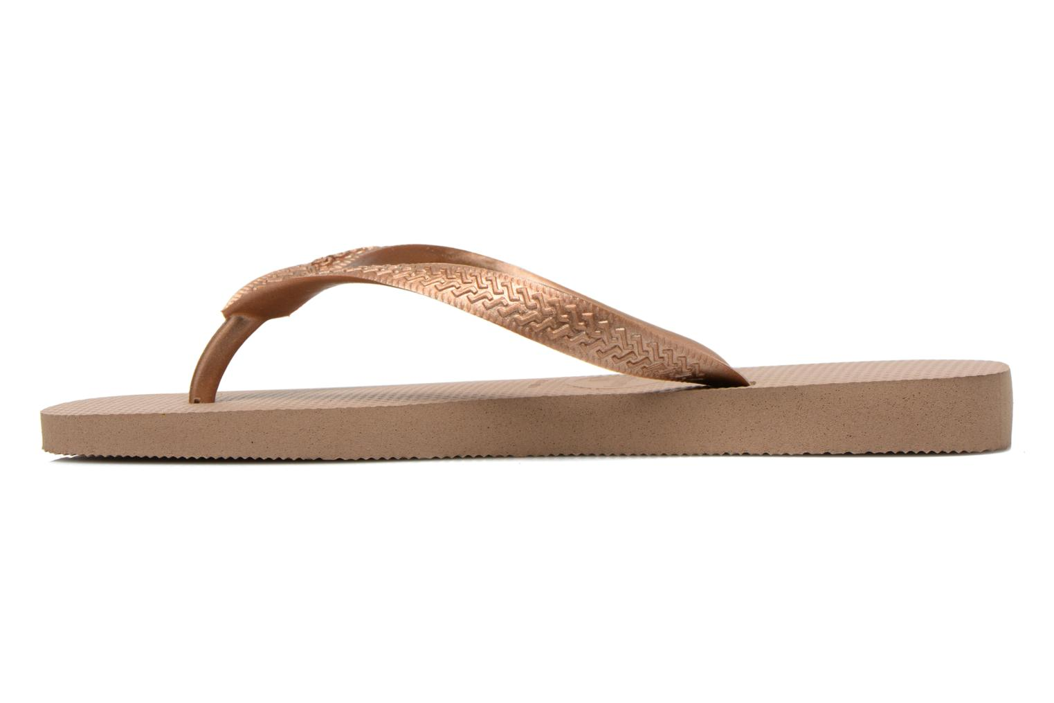 Chanclas Havaianas Top Metallic F Oro y bronce vista de frente