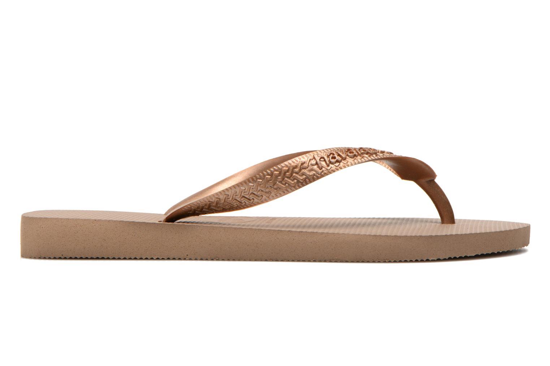 Flip flops Havaianas Top Metallic F Bronze and Gold back view