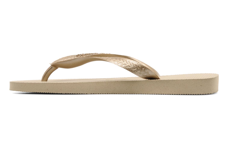 Flip flops Havaianas Top Metallic F Bronze and Gold front view