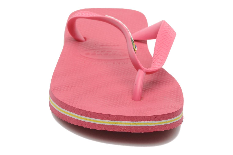 Zehensandalen Havaianas Brasil Logo F rosa schuhe getragen