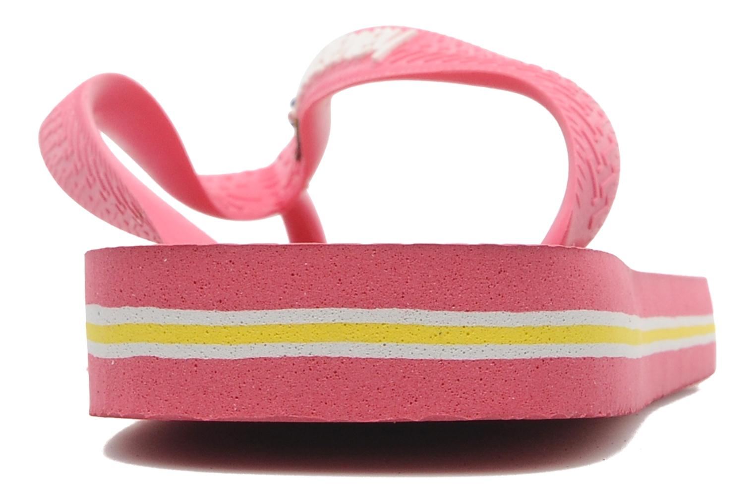 Flip flops Havaianas Brasil Logo F Pink view from the right