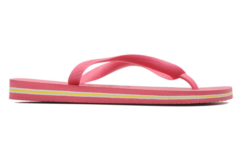 Zehensandalen Havaianas Brasil Logo F rosa ansicht von hinten