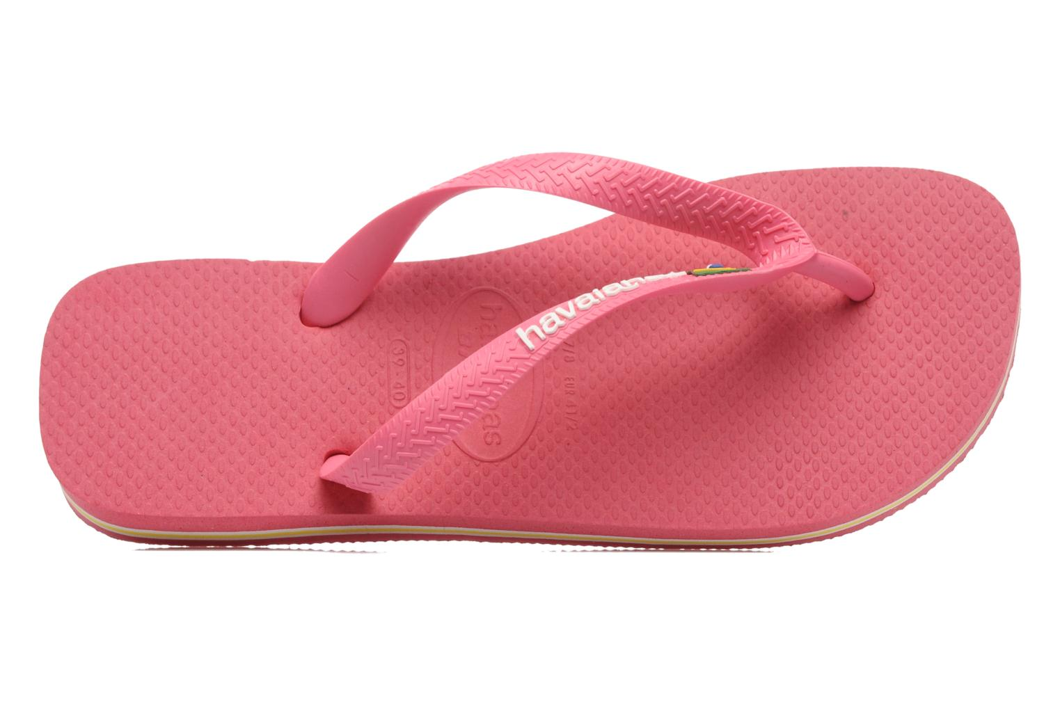 Flip flops Havaianas Brasil Logo F Pink view from the left