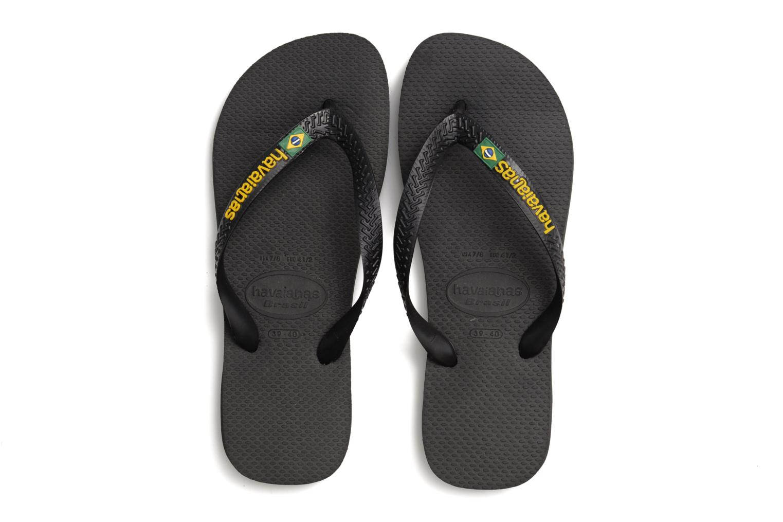 Flip flops Havaianas Brasil Logo F Black 3/4 view