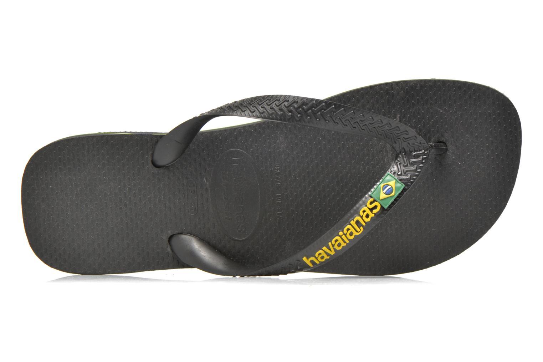 Slippers Havaianas Brasil Logo F Zwart links