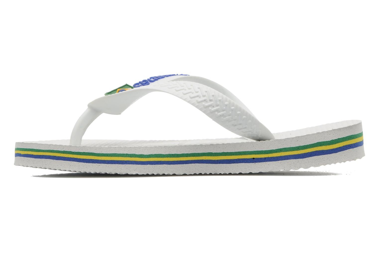 Chanclas Havaianas Brasil Logo E Blanco vista de frente